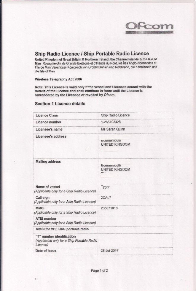 VHF Radio refresher - Ship Radio License